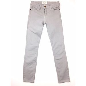 Current Elliott Light Grey The Ankle Skinny Jeans